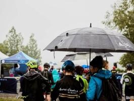 La pluie s'abat sur le site des Provinciaux 2019