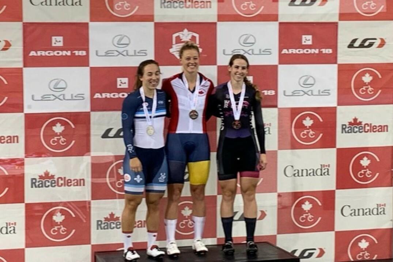 Lauriane Genest remporte la médaille d'argent lors du sprint individuel