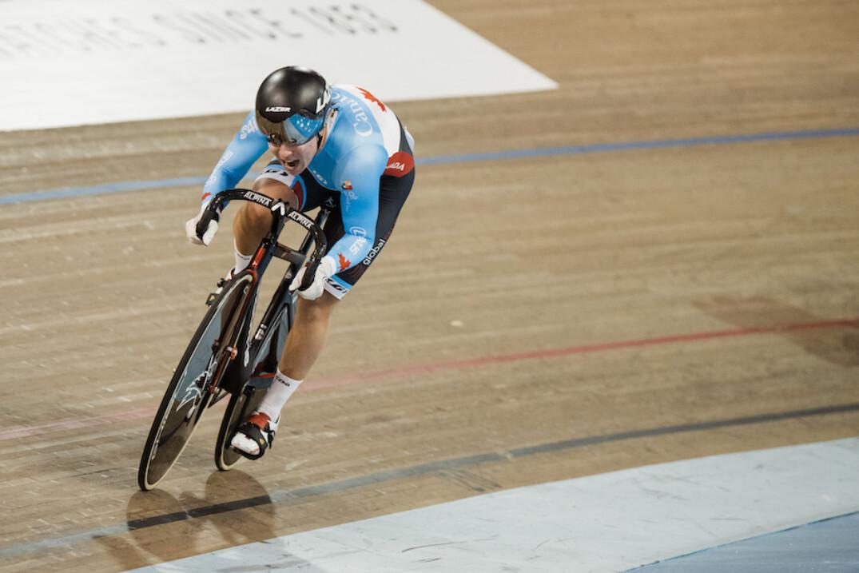 Lauriane Genest est éliminée en quarts de finale lors du keirin dimanche.