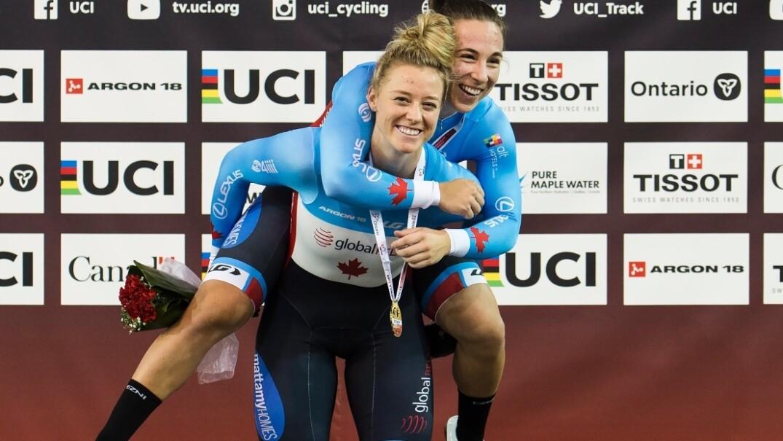 Lauriane Genest et Kelsey Mitchell avaient remporté l'or lors de la finale de la Coupe du monde à Milton, en janvier.