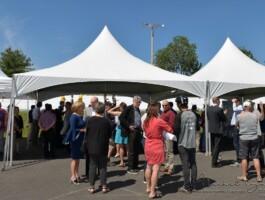 Conférence de presse au Centre national de cyclisme de Bromont (CNCB) sur le don de 1 M$ par Desjardins
