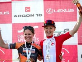 Leah Kirchmann (Team Sunweb) et Karol-Ann Canuel (Boels-Dolmans) ont terminé en 1ère et 2e places.