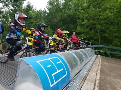 Ligne de départ BMX Pointe-du-Lac