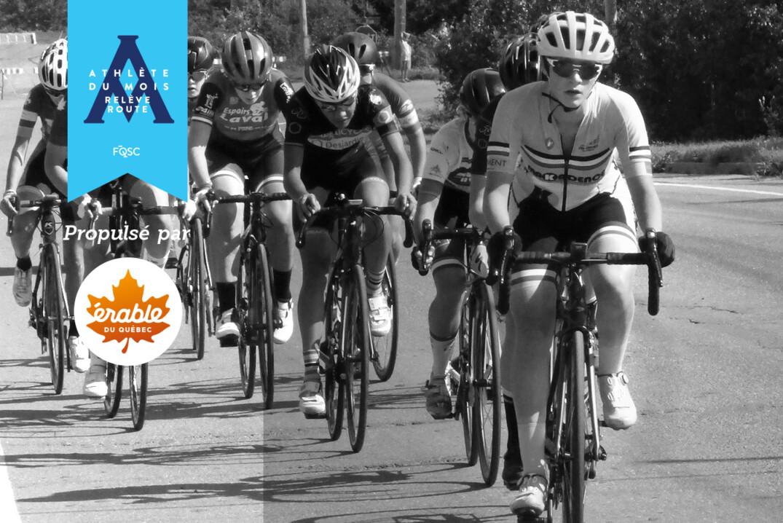 Britanie Cauchon est nommée athlète relève en cyclisme sur route pour le mois d'août