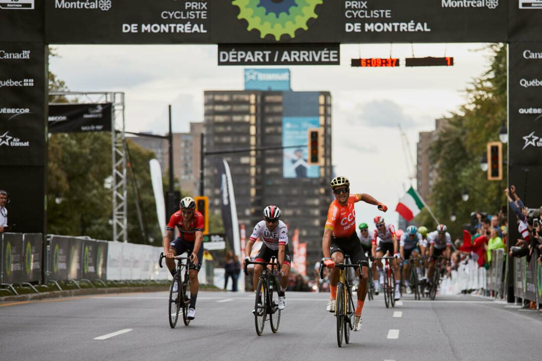Le sprint final lors du Grand Prix Cycliste de Montréal