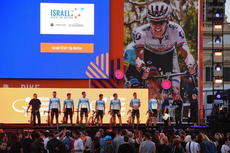 La formation de l'Israël Start-Up Nation au Tour Down Under.