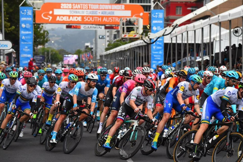Le départ du Santos Tour Down Under à Adélaïde, en Australie.