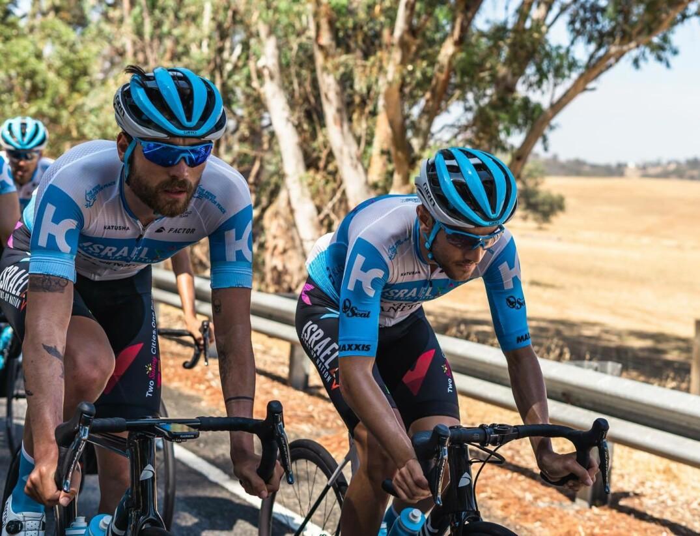 James Piccoli lors de sa première course sur le WorldTour avec la formation Israël Start-Up Nation..