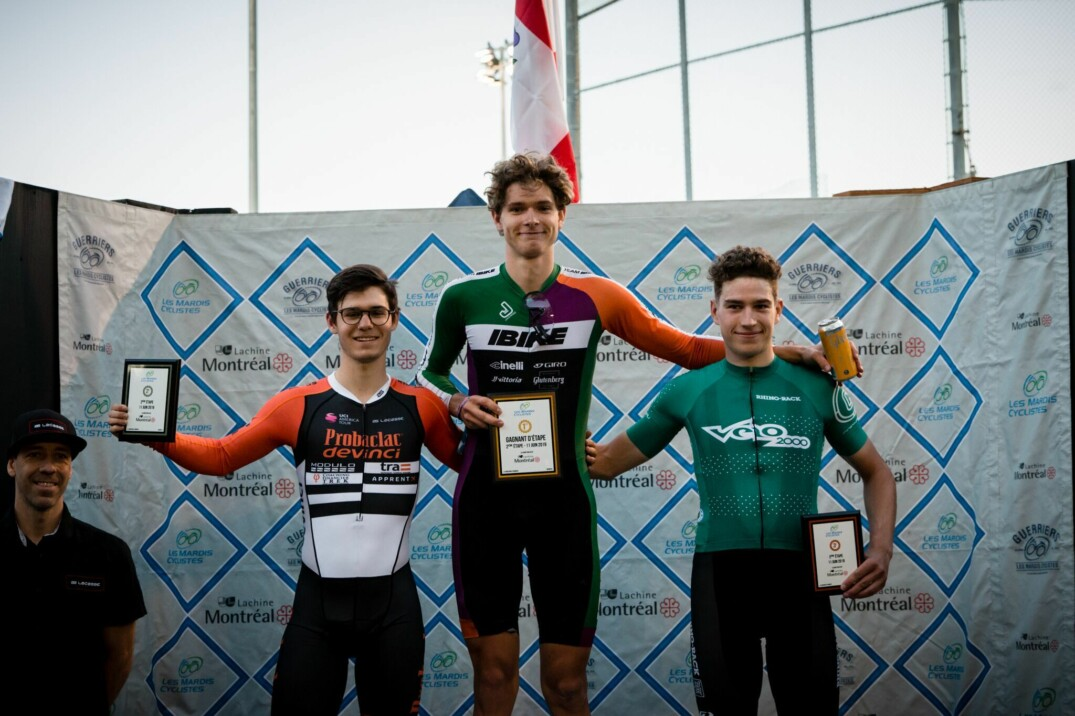 Podium Elite H 11Juin Mardis cyclistes de Lachine