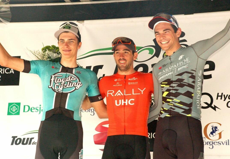 Le podium à l'issue de la première étape du Tour de Beauce 2019