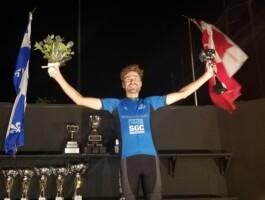 Alexis Cartier a remporté le maillot bleu pour le coureur le plus combatif
