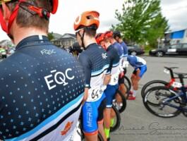 L'équipe du Québec alignée au départ de la quatrième étape