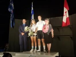 Allyson Webb-Charland et Raphaël Parisella remportent le maillot blanc Desjardins à titre de meilleurs juniors