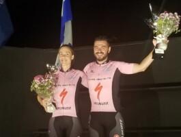 Véronique Desjardins et Jérémie Fontanaud ont remporté le maillot rose des maîtres
