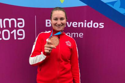 Laurie Jussaume aux Jeux Panaméricains de Lima 2019