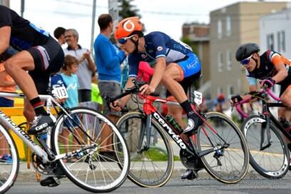 Mathias Guillemette en action lors de la septième étape