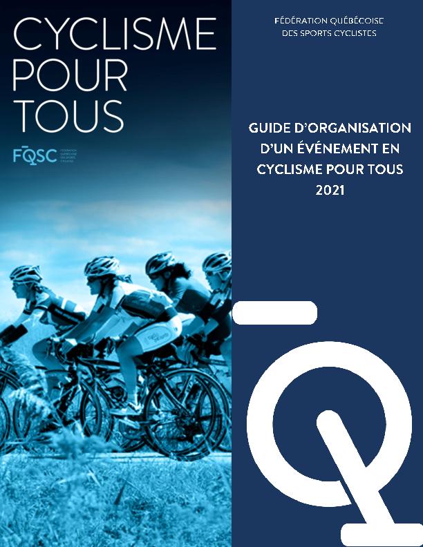Guide d'organisation d'un événement en Cyclisme pour tous 2021