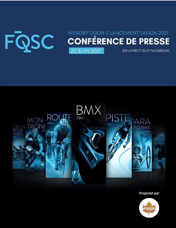 Pochette Virtuelle Conference De Presse De La Saison Cycliste 2021 Vf