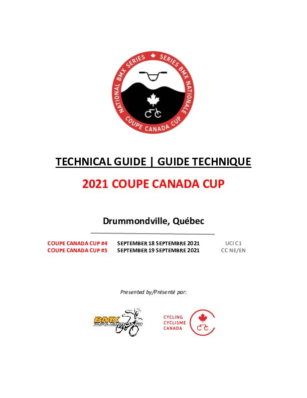 Guide Technique Drummondville Coupe Canada 2021 V3