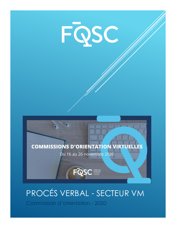 Procès verbal VM - 2020