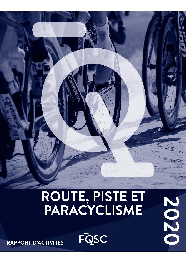 Rapport des activités RP 2020