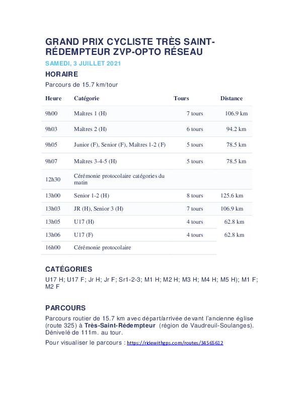 Grand Prix Tres Saint Redempteur Zvp Opto Reseau Derniere Version