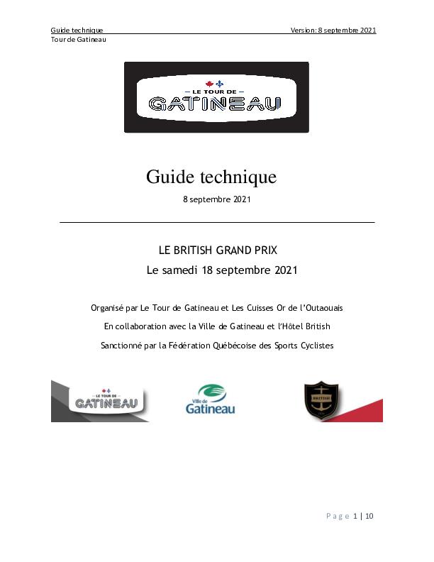 Guide Juniors Seniors et Maîtres