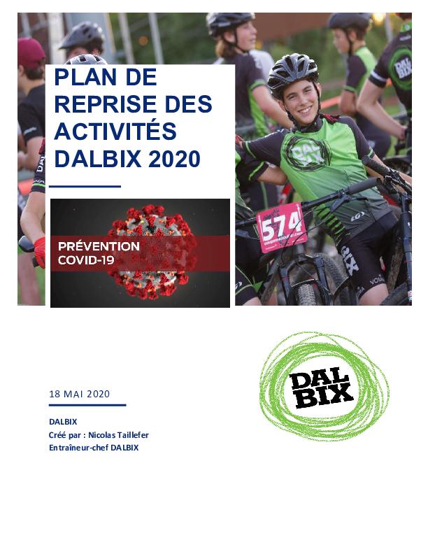 Plan Dalbix Covid 18 Mai 2020