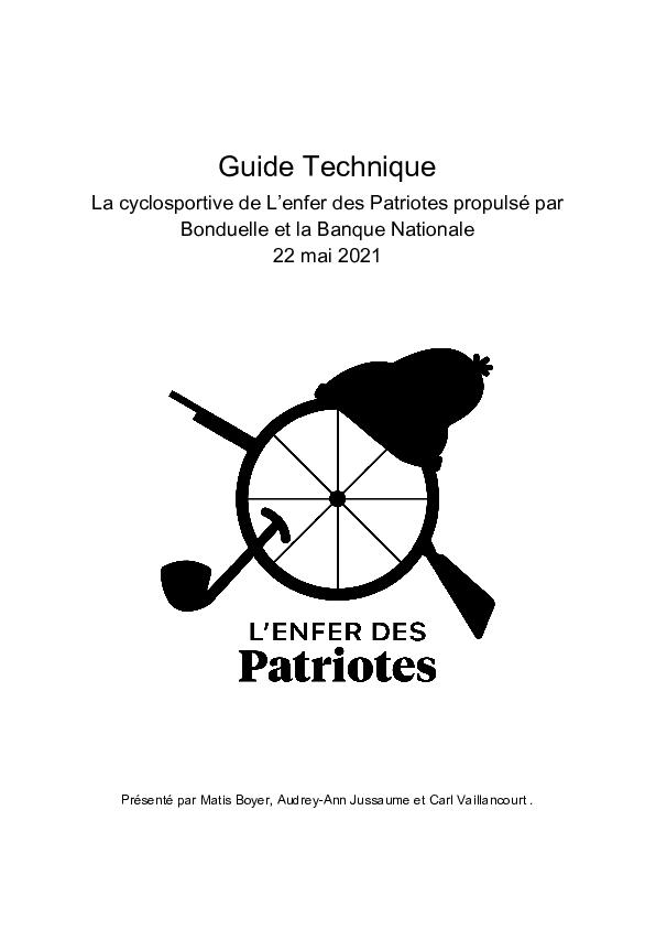 Guide technique de la cyclosportive de l'enfer des patriotes
